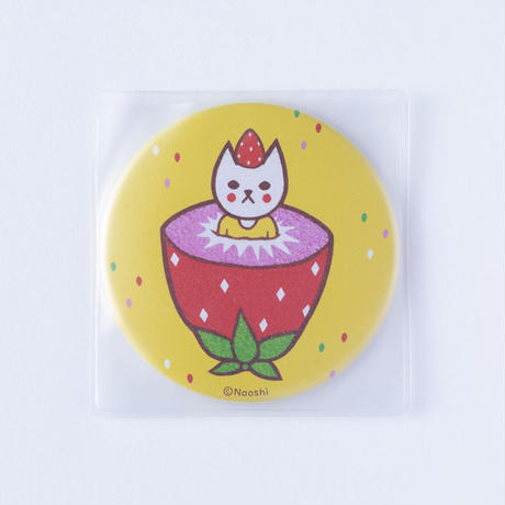 (NEW!) FRUIT CAT CAN MIRROR-STRAWBERRY