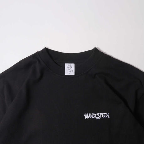 MANGOSTEEN Logo Embroidery Cropped Sleeve / Black