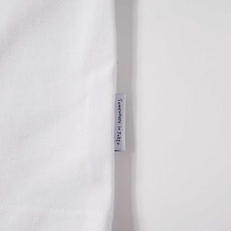 MANGOSTEEN Logo Embroidery Cropped Sleeve / White