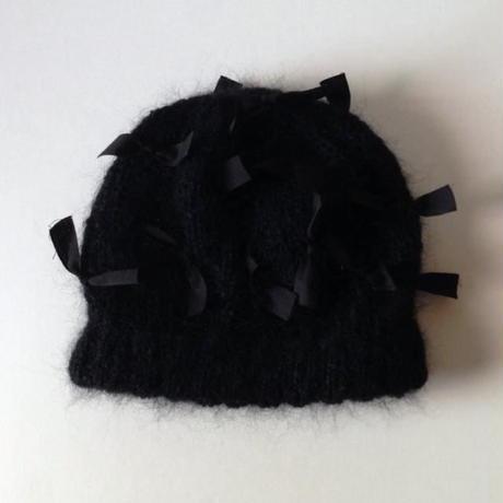 ニット帽|モヘア・リボン