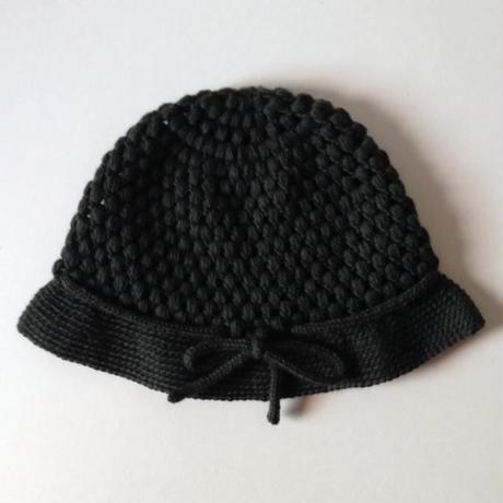 ニット帽 |玉編みクロッシュ