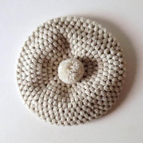 ニット帽 |玉編みベレー