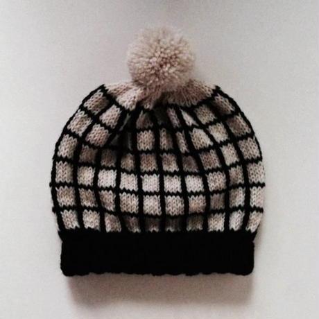 ニット帽|格子