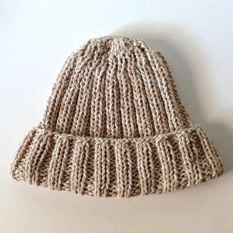 ニット帽 |リブ・ラメ