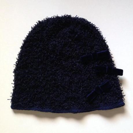 ニット帽 |綿モール・リボン