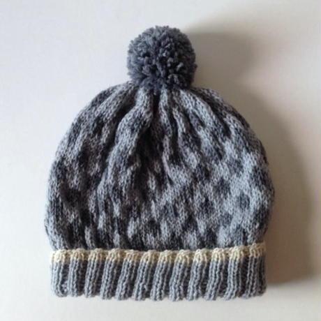 ニット帽|水玉