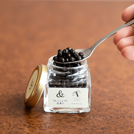 生胡椒の塩漬け 25g <無添加・ヴィーガン> ✫世界最高品質カンボジア産生こしょうのおいしい塩漬け✫