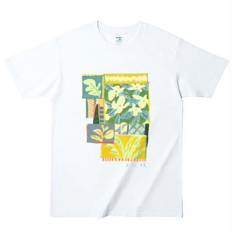まん腹 花Tシャツ