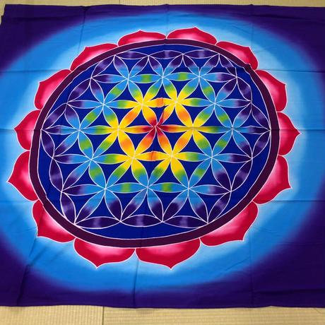 瞑想の布【バリ島名産】フラワーオブライフ大