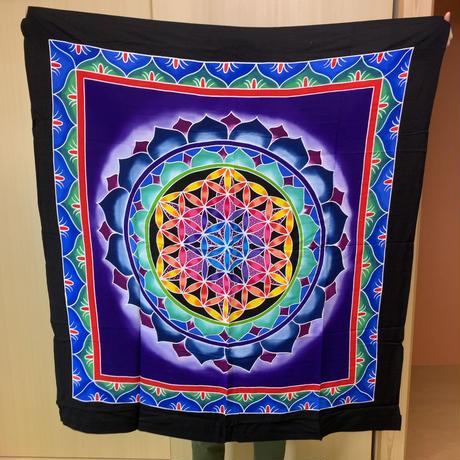 瞑想の布【バリ島名産】フラワーオブライフ