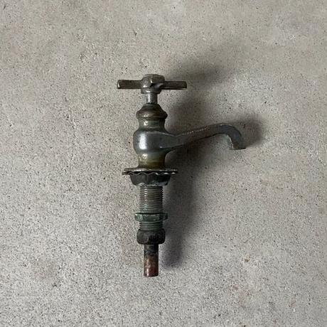真鍮製プロペラ摘みヴィンテージ蛇口 インテリア小物 古道具 古い蛇口 アンティークパーツ 40s 50s 60s