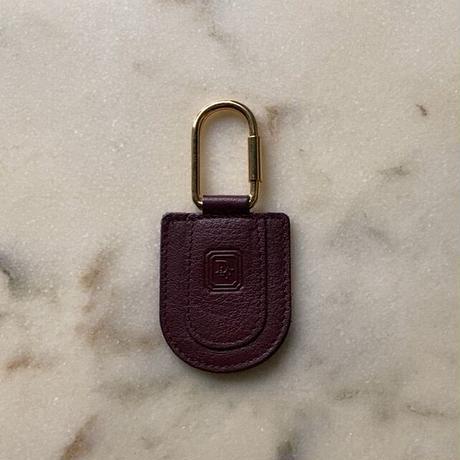 Dior クリスチャン ディオール  オールドディオール レザー キーリング ボルドー made in spain
