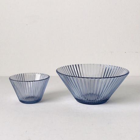 そうめんセットガラス器(3セット) ヴィンテージガラス 素麺の器 箱有り 昭和時代物