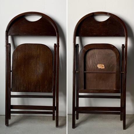 ヴィンテージ フォールディングチェア 木製 折り畳み椅子 差物木工 民藝