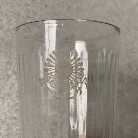 アンカーグラス  3個セット アサヒビール/リボンシトロン アドバタイジンググラス 昭和初期  高さ10.5cm ほんのりブルーグレー アンティークグラス コップ 完品  ※3点ございます。