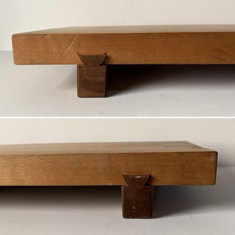 足付きまな板 高級無垢材一枚板 鎌ほぞ継加工 古いまな板 木工 カッティングボード ヴィンテージキッチンツール