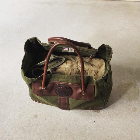 Duluthpack ダルースパック スポーツマントート モスグリーン×ダークブラウン レザーキャンバス トートバッグ 中古美品 made in usa