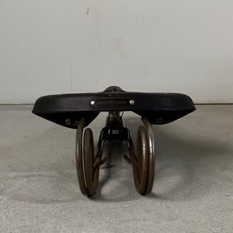 EIRYU BICYCLE LTD TRADE MARK ヴィンテージ 革サドル レザー自転車パーツ オールドパーツ レトロパーツ 50s 60s 70s