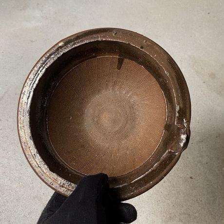 古い 片口すり鉢  幅約17cm 小さめ摺鉢 古民具 古民藝 古手 骨董 ヴィンテージキッチンツール 実用品