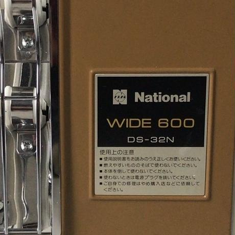 National ナショナル  クラシック 電気ストーブ WIDE600 DS-32N ヴィンテージ家電 コヨーテ・ミリタリーカーキ  ロゴもコヨーテ  中古極美品