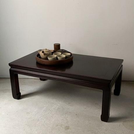 唐木紫檀材の小さな座卓  幅約79cm 直線のシンプルデザイン  アンティークローテーブル  古家具  極小古材御膳  良品