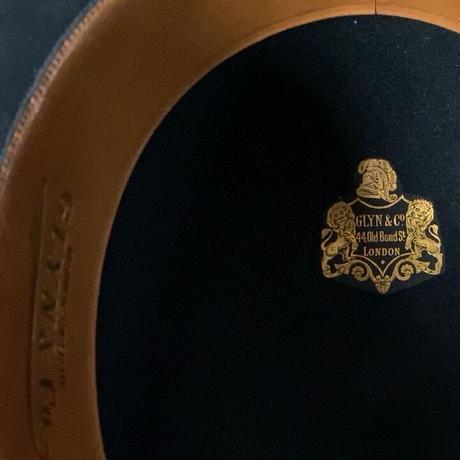 GLYN&Co.  LONDON  イギリス製 ヴィンテージ ボーラーハット ダービーハット ブラック size実寸57cm 山高帽