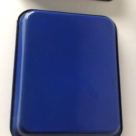 ホーロー パッド  3点セット  大中小3サイズ スタック可  ブルー2/グリーン1  ヴィンテージ琺瑯トレー 状態良好。
