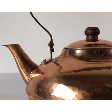 純銅ケトル  ヴィンテージコッパー100   レトロ銅やかん 木製ハンドル 木製摘み 中古美品