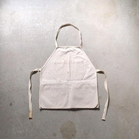 USA製 ヴィンテージ ワークエプロン  Wポケット ヘビーオンスキャンバス ホワイト