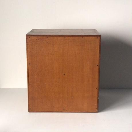アンティーク小引き出し10杯 木製無垢材 ネームホルダー(真鍮製)付 ヴィンテージ家具 50s 60s 完品