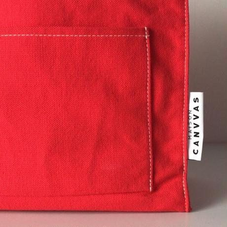 MAISON CANVVAS   メゾン キャンバス   GERMANY CANVAS POKET TOTE  ジャーマニーキャンバスポケットトートS  赤  中古美品