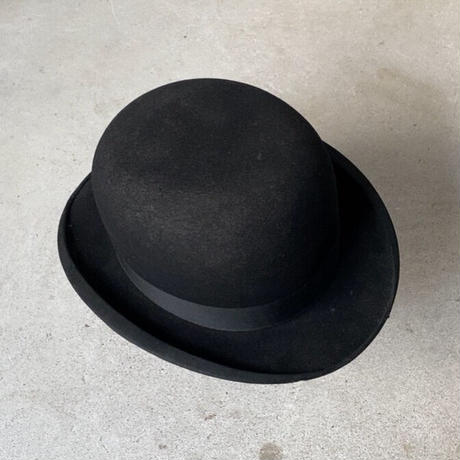 THE Hawk Hats  best under the sun  ヴィンテージ ボーラーハット size 6 3/4 実寸54cm ブラック ダービーハット 古い山高帽  ザ ホークハッツ