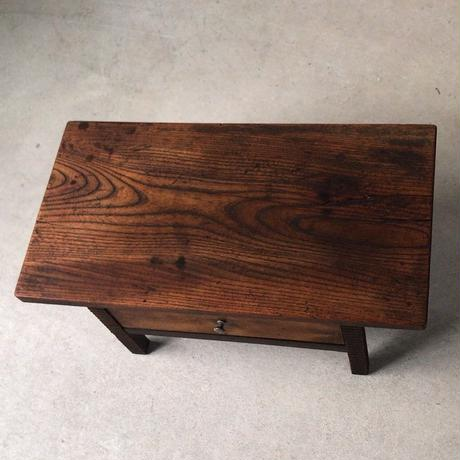 アンティーク 欅天板 引出し花台 香炉台  古材 古道具 古美術