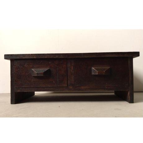 引き出し付き花台  飾り台  香炉台  民藝 デザイン  経机  古家具  古道具