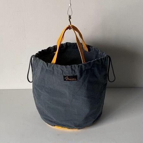 NAPRON  patientsbag  ナプロンのペーシェントバッグ  グレー/イエロー バイカラー好配色 2wayトートバッグ 巾着 鞄 64クロス 中古品