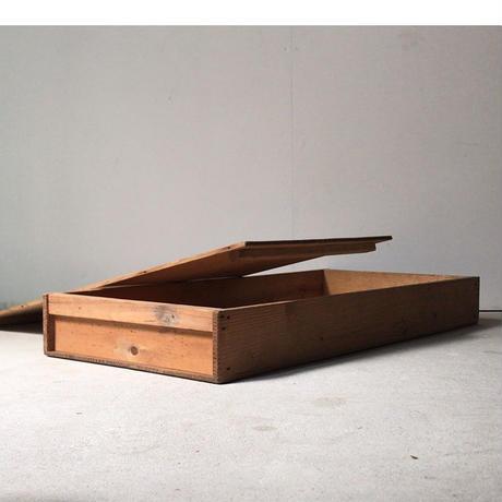 古い餅箱 無地  蓋有り 檜無垢材  アンティーク木箱 ヴィンテージウッドボックス  道具箱 美品
