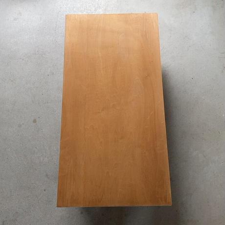 昭和の折り畳み木製裁縫机  2台セット  ナチュラルな素地に簡素な鉄の金具 シンプル設計の折畳机 幅90cm