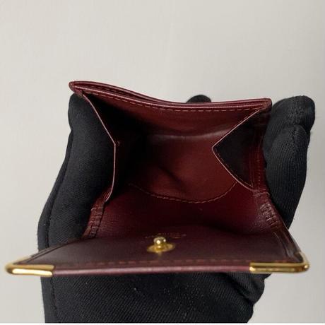Cartier カルティエ 90sヴィンテージ マストライン コインンケース コンパクトウォレット ミニ財布 レザー 付属品完備 美品