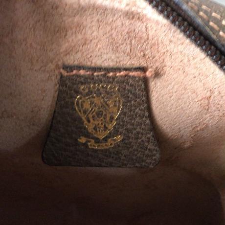 GUCCI グッチ  オールドグッチ  GGプラス コーティングキャンバス ポシェット ミニショルダー バッグ ブラウン  ヴィンテージ  中古美品