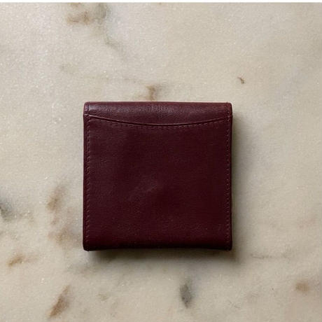 Cartier カルティエ マストライン フラップ型ミニコインケース マスト L3000464 ボルドー レザー 中古 小銭入れ アクセサリーケース