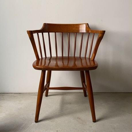 A 飛騨産業 キツツキマーク ウィンザーダイニングチェア ローバックアームチェア  木製無垢 木工椅子 made in japan