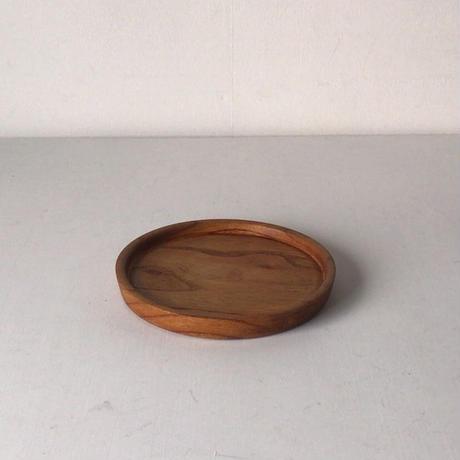極小・小さなくり抜き盆16.3cm 木製 天然木 木工 工芸品
