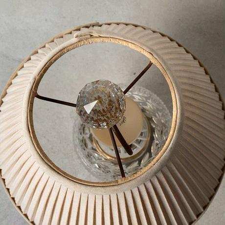 LEVITON レビトン社 アンティーク ランプ  球体ガラス/プリーツシェード 2段照光 ベッドサイド照明 USA アメリカンヴィンテージ 完品