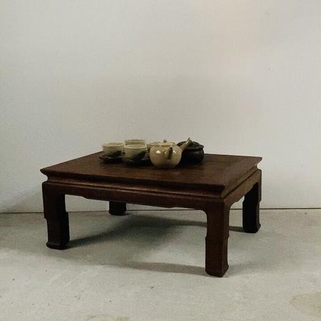 古い小さな木製無垢座卓  幅55cmの極小座卓 小さなお膳 ちゃぶ台 古道具 古家具 ヴィンテージクラフト