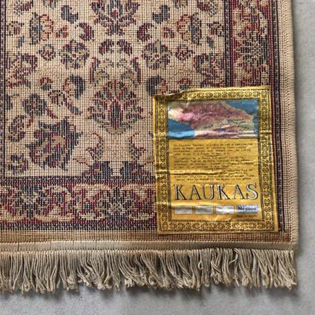 KAUKAS  ヴィンテージ  ラグ  オールドマット ベルギー製 小さめ絨毯  約100cm幅(フリンジ込)  made in belgium
