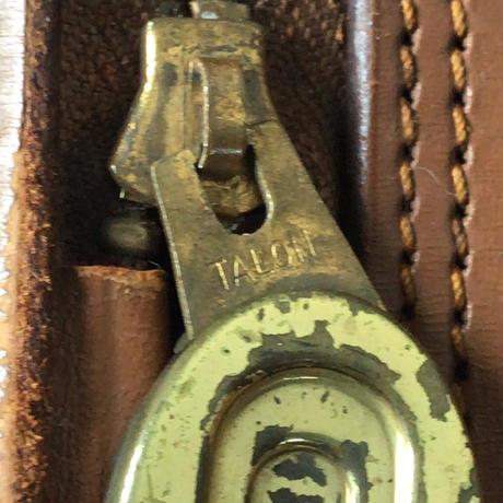 アンティーク レザートラベルバッグ ファスナートランク TALON(タロン)ファスナー付   USA