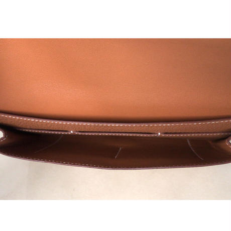 HERMES エルメス ドゴンデュオ(GM)  トゴ  ゴールド  シルバー金具  D刻印(2019年製) 財布 ウォレット 中古極美品