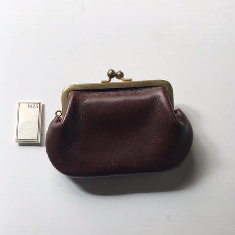 N25  エヌニジュウゴ   レザー  ガマ口  ウォレット  お財布 サイズ(中)   ダークブラウン 中古美品