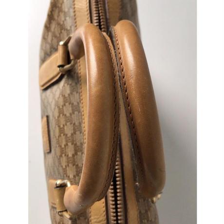 CELINE  セリーヌ   マカダム柄 ブラゾンロゴ  ヴィンテージ ハンドバッグ   ベージュ  中古美品