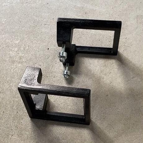 UNION ユニオン社製  南部鉄 ドアハンドル ブラック 両面2個1組  中古良品